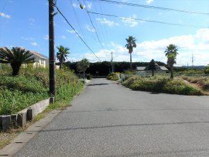 千葉県富津市千種新田の不動産、土地、海が見える、ケープショアガーデン、海一望、接道の様子です