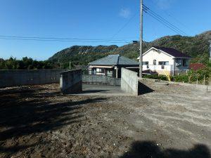 千葉県南房総市白浜町根本の不動産、海が見える土地、別荘用地、スロープ方面