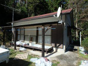 千葉県鴨川市川代の不動産、山林、別荘、キャンプ場用地、建物は3DKの平家です