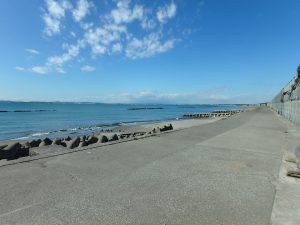 千葉県富津市千種新田の不動産、土地、海が見える、ケープショアガーデン、海一望、海は開放的でいいですね
