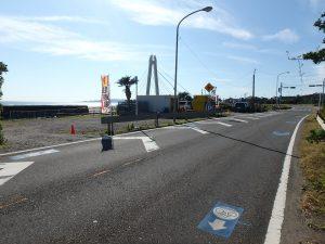 千葉県南房総市和田町白渚の不動産、土地、海が目の前、海望む、接道は国道128号