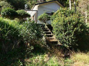 千葉県鴨川市川代の不動産、山林、別荘、キャンプ場用地、今度は建物下平坦地に移動