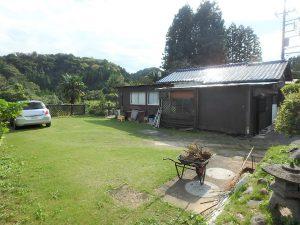 千葉県夷隅郡大多喜町堀切の不動産、田舎暮らし、移住、北東側は広い芝庭