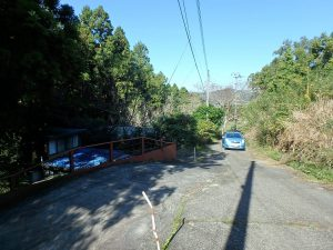 千葉県鴨川市川代の不動産、山林、別荘、キャンプ場用地、物件接道は私道になります