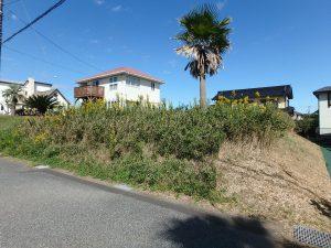 千葉県富津市千種新田の不動産、土地、海が見える、ケープショアガーデン、海一望、敷地は道路より高い