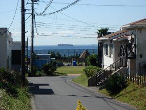 千葉県富津市千種新田の不動産、土地、海が見える、ケープショアガーデン、海一望、2階建ならもっと見えそう