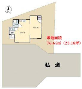 海浜売別荘 館山市波左間 1LDK 450万円 物件概略図