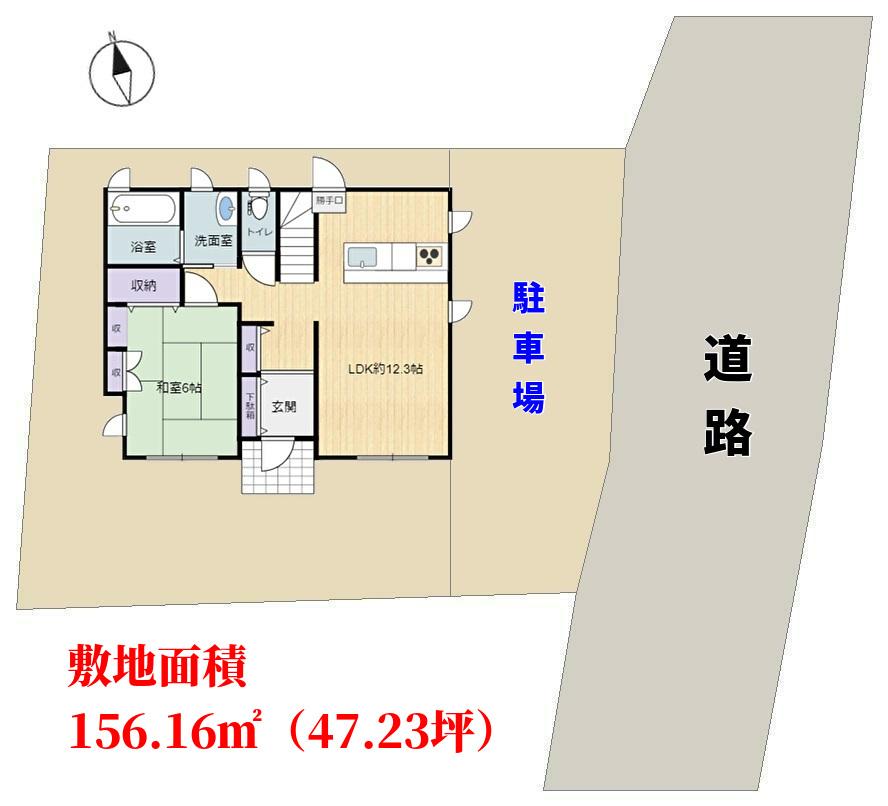 千葉県鴨川市東町の不動産、中古戸建て、物件敷地概略図