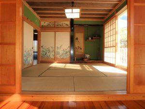 千葉県南房総市白浜町滝口の不動産、海が見える別荘・保養所、海一望、立派な8帖の和室です