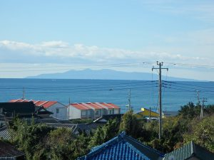 千葉県南房総市白浜町滝口の不動産、海が見える別荘・保養所、海一望、太平洋の向こうに大島です