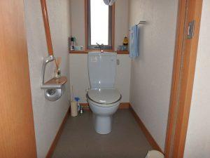 千葉県鴨川市東町の不動産、中古戸建て、積水ハウス施工、2階のトイレです