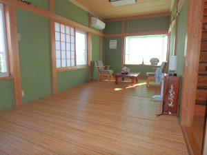 千葉県南房総市白浜町滝口の不動産、海が見える別荘・保養所、海一望、上がって直ぐは9帖の和室