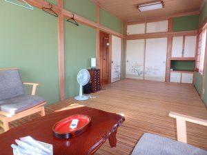 千葉県南房総市白浜町滝口の不動産、海が見える別荘・保養所、海一望、2階は他に4部屋あります