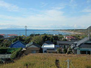 千葉県南房総市白浜町滝口の不動産、海が見える別荘・保養所、海一望、根本海水浴場方面