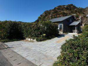 千葉県鴨川市天面の不動産、海が見える家、海前、別荘、振り返るとこんな感じ