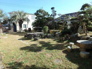 千葉県南房総市白浜町滝口の不動産、海が見える別荘・保養所、海一望、庭も魅力的ですね