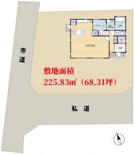 築浅売家 館山市高井 3SLDK 2600万円 物件概略図
