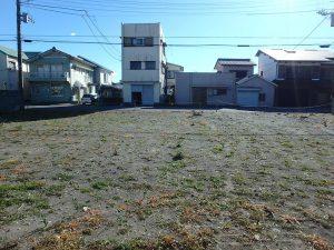 千葉県館山市北条の不動産、海の近く、海が見える土地、おどや近く、道路間口も広い整形地