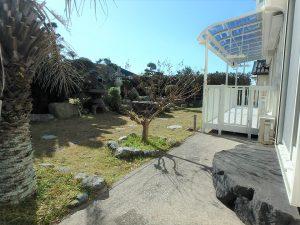 千葉県南房総市白浜町滝口の不動産、海が見える別荘・保養所、海一望、お庭の雰囲気もイイですね