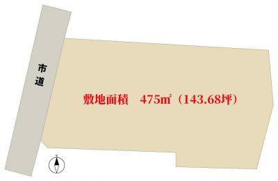 売地 館山市八幡312-1 475㎡(143.68坪) 1850万円 物件概略図