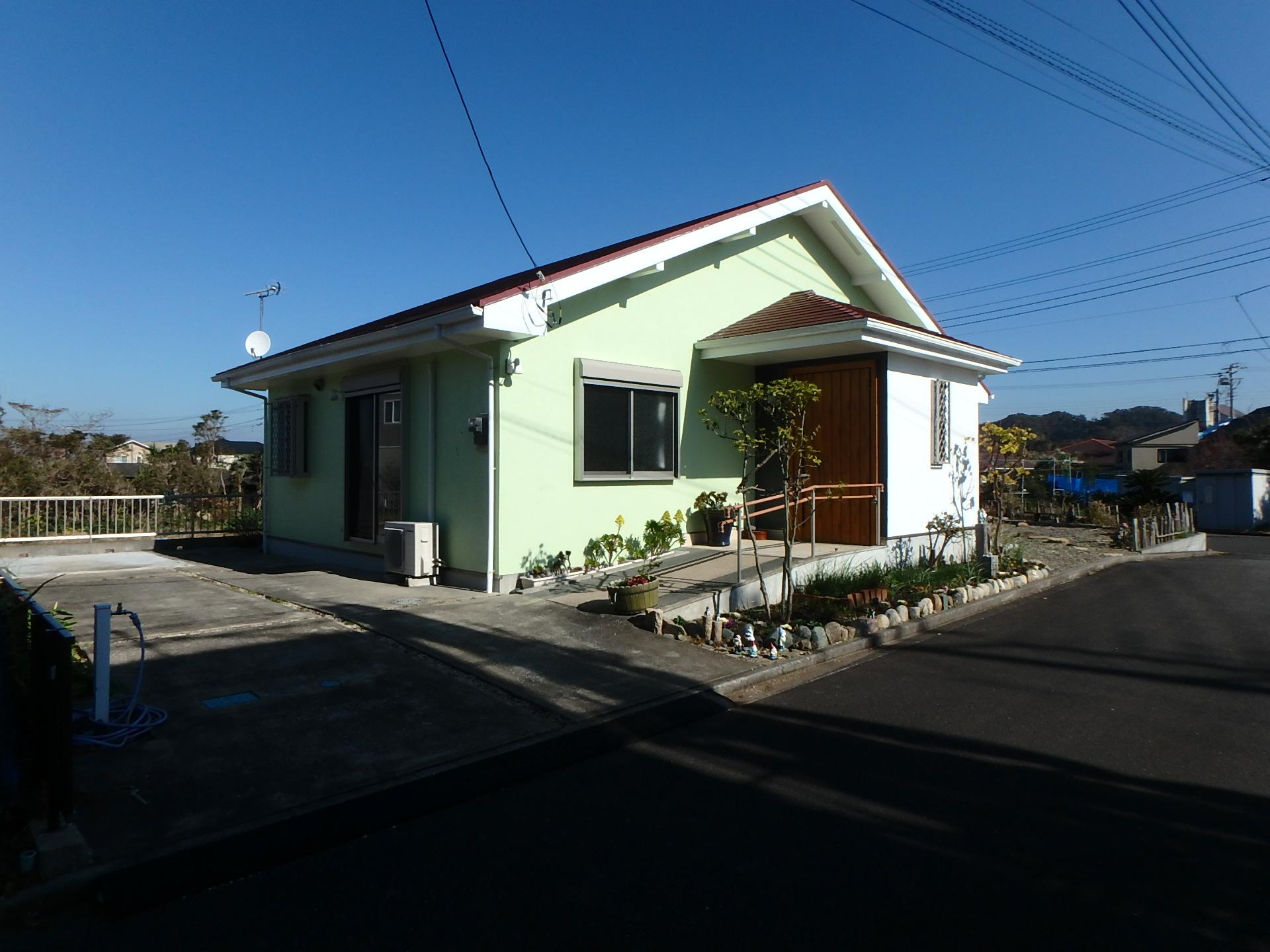 千葉県館山市加賀名館山ポピーランドの別荘、ミニ菜園付き、海近