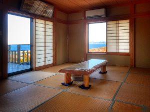 千葉県館山市加賀名の不動産、海が見える別荘、ポピーランド、海一望、隣接の和室もナイスビュー