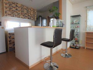 千葉県館山市湊の不動産、中古住宅、戸建て、移住、キッチンはカウンター式