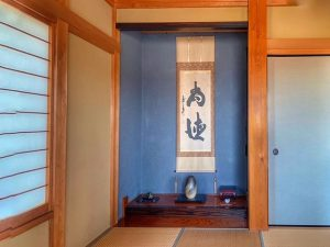 千葉県館山市加賀名の不動産、海が見える別荘、ポピーランド、海一望、和があると落ち着きますね