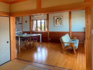 千葉県館山市加賀名の不動産、海が見える別荘、ポピーランド、海一望、景色を眺め寛げます