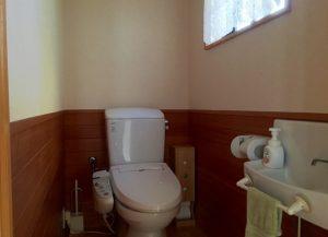 千葉県館山市加賀名の不動産、海が見える別荘、ポピーランド、海一望、手洗い付きトイレ