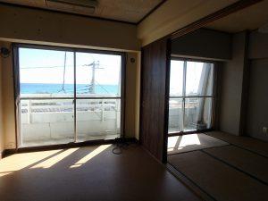 千葉県南房総市和田町仁我浦の不動産、マンション、海が見える、海一望、房総シーサイドコンド、海の景色もバッチリ