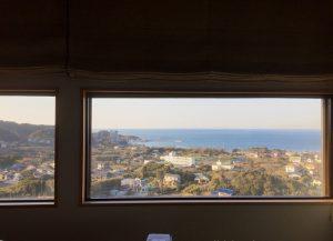 千葉県館山市加賀名の不動産、海が見える別荘、ポピーランド、海一望、こんな感じです