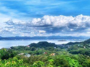 千葉県館山市加賀名の不動産、海が見える別荘、ポピーランド、海一望、館山の船形方面