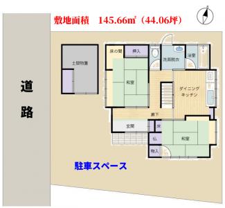 海望売家 南房総市白浜町乙浜 4DK 980万円 物件概略図
