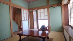 千葉県南房総市白浜町乙浜の不動産、中古戸建て、収益物件、別荘、海前、海望む、1階の居間です