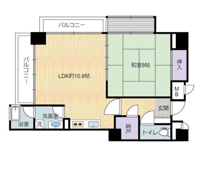 千葉県南房総市白浜町滝口のマンション、アレーヌ白浜701号室の間取り図