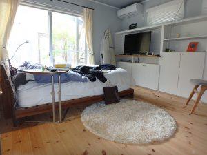 千葉県南房総市和田町白渚の不動産、海一望、海が見える別荘、1階のベッドルーム
