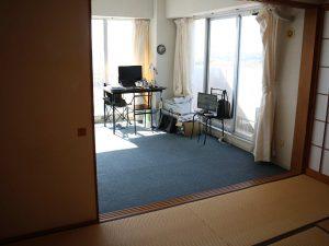 千葉県南房総市白浜町滝口のマンション、アレーヌ白浜、別荘、海一望、角部屋で二面の採光