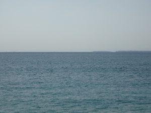 千葉県安房郡鋸南町保田の土地、海望む、海に近い住宅地、対岸に城ケ島が見える