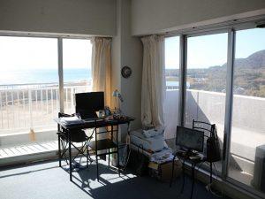千葉県南房総市白浜町滝口のマンション、アレーヌ白浜、別荘、海一望、開放感ありますね