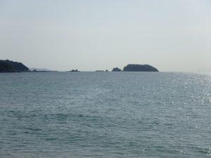 千葉県安房郡鋸南町保田の土地、海望む、海に近い住宅地、左手の浮島は絵になるな