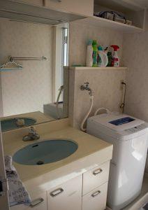 千葉県南房総市白浜町滝口のマンション、アレーヌ白浜、別荘、海一望、洗面脱衣室です