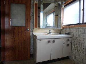 千葉県館山市八幡の不動産、戸建て、移住、ワイドな洗面台