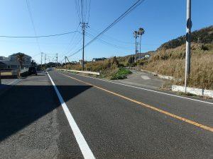 千葉県館山市西川名の不動産、海が見える土地、広い土地、フラワーラインを山側に