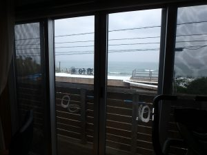 千葉県南房総市和田町白渚の不動産、海一望、海が見える別荘、窓の外は白渚ビーチ丸見え