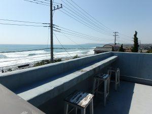 千葉県南房総市和田町白渚の不動産、海一望、海が見える別荘、ここに座って波の確認