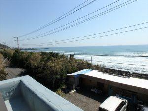 千葉県南房総市和田町白渚の不動産、海一望、海が見える別荘、水平線が丸く見えます