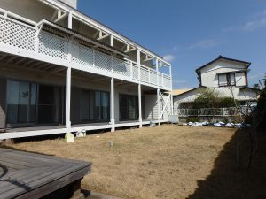 千葉県鴨川市横渚の不動産、前原海岸すぐ前、海一望別荘、高級別荘、最後に外回りです