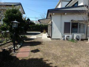 千葉県館山市八幡の不動産、戸建て、移住、陽当りの良い敷地ですね