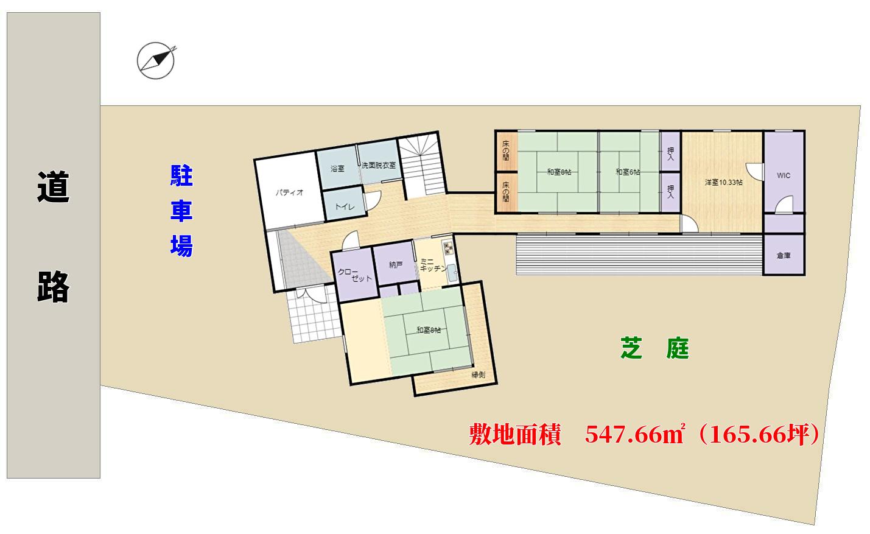 千葉県鴨川市横渚の不動産、前原海岸前、別荘の物件敷地概略図